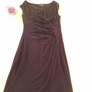 Lauren Ralph Lauren Plum Purple Sheath Dress Sz 10